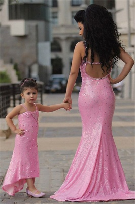 Pretty Pink Crystal Flower Girl Dresses | Open Back Pageant Dress with Detachbale Skirt_5
