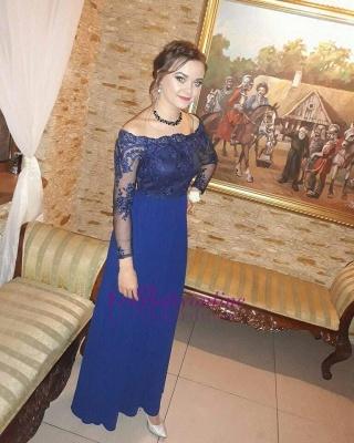 Royal-Blue  Prom Dresses | Long-Sleeves A-Line Evening Dresses_1