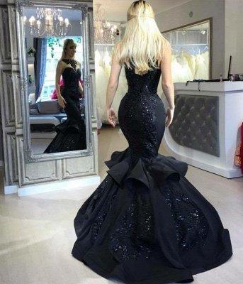 Amazing Black Mermaid Prom Dresses   Sleeveless Beaded Evening Gowns_3