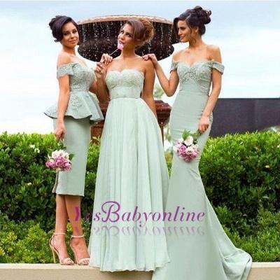 Off-the-Shoulder Gorgeous Lace Mermaid Bridesmaid Dress_1