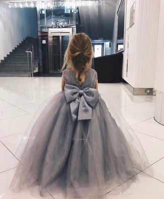 Sweet Affordable Tulle Flower Girl Dress  | Lovely Lace Bowknot Girls Pageant Dresses_1