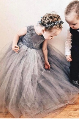 Sweet Affordable Tulle Flower Girl Dress  | Lovely Lace Bowknot Girls Pageant Dresses_3