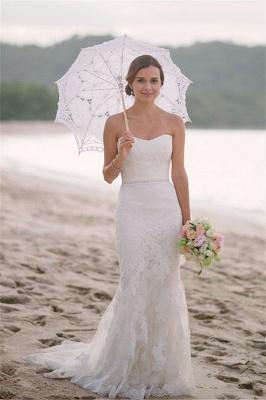 Spaghetti Straps Sheath Floor Length Beach Wedding Dresses | Destination Bridal Dresses_1