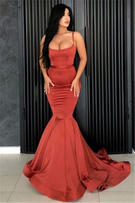 Sexy Mermaid Spaghetti Straps Evening Dresses Cheap | 2019 Long Simple Evening Gowns Online_1