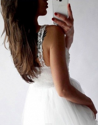 Chic Straps A-Line Homecoming Dresses | Sleeveless V-Neck Cocktail Dresses_4