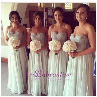 Chiffon A-line Floor-Length Mint Bridesmaid Dresses_1