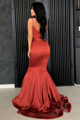Sexy Mermaid Spaghetti Straps Evening Dresses Cheap | 2019 Long Simple Evening Gowns Online_3