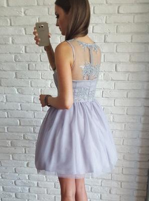Sexy Sleeveless Homecoming Dresses | A-Line V-Neck Cocktail Dresses_3