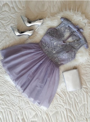 Sexy Sleeveless Homecoming Dresses | A-Line V-Neck Cocktail Dresses_4