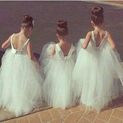 Lovely Floor-length Tulle Princess Jewel Flower Girl Dress_3