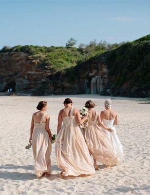Zipper Newest A-line One-Shoulder Sleeveless Chiffon Bridesmaid Dress_3