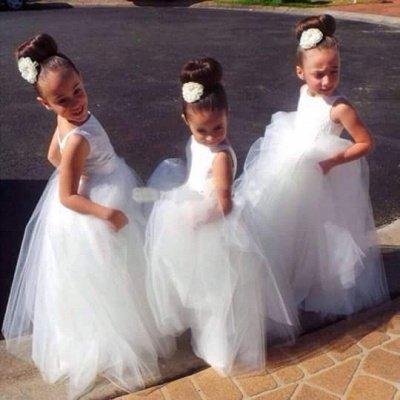 Lovely Floor-length Tulle Princess Jewel Flower Girl Dress_2