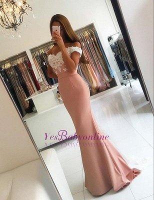 Off-the-shoulder Mermaid Lace-Appliques Modern Long Prom Dress BA4464_1