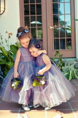 Cheap Sleeveless Floor-length Tulle Jewel Flower Girl Dress_1