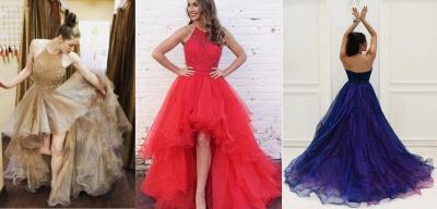 Prom Dresses Low Halter Beading A-Line Brilliant  High Evening Dresses_4