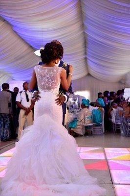 Charming Mermaid Wedding Dresses | Beaded Ruffles Skirt Bridal Gowns_4