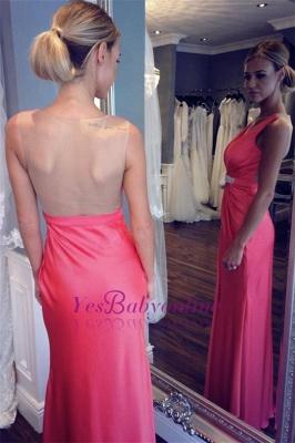 Sexy V-neck Back Evening Dresses | Sheer  Sleeveless Prom Dresses_1