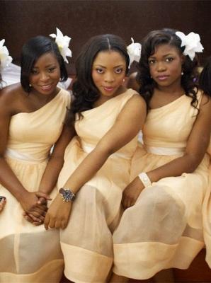 One-shoulder Sleeveless Modern A-line Floor-length Bridesmaid Dress_2