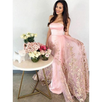 Chic Strapless Mermaid Evening Dresses | Sleeveless Long Prom Dresses_3