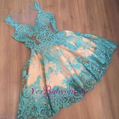 Appliques A-Line Newest Sleeveless Short Homecoming Dress_1