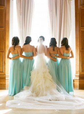 Sweetheart Sleeveless Chiffon Elegant Bridesmaid Dress_3