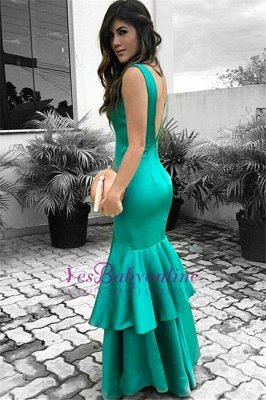 Sexy Cheap Sleeveless Evening Dresses | Ruffles Open Back Prom Dresses_1